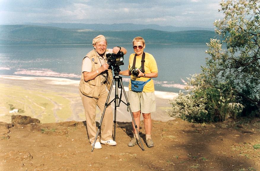 Tony Halik i Elżbieta Dzikowska w pracy